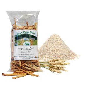 Organic Honey Spelt Pretzel Sticks display