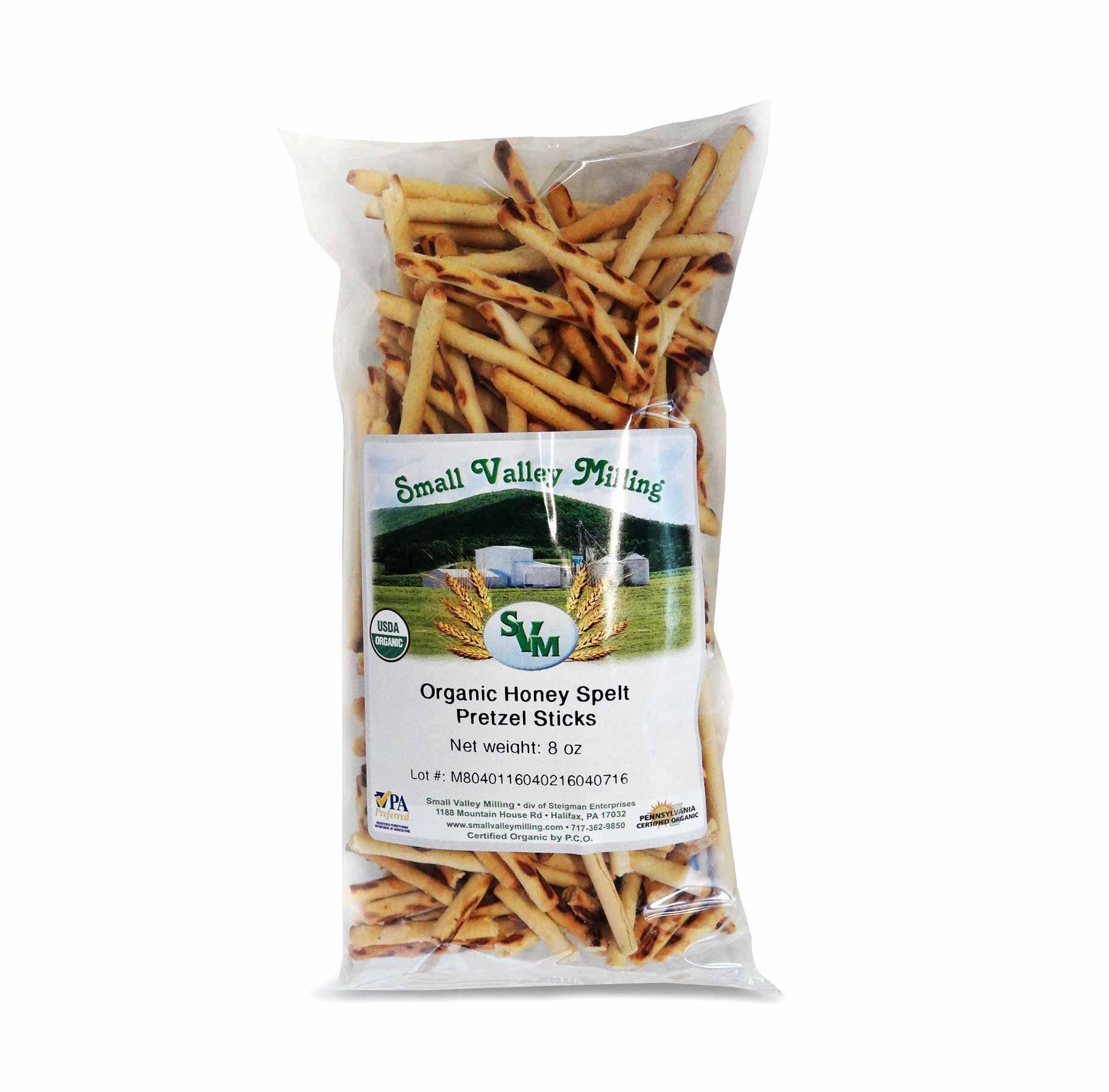 Organic Honey Spelt Pretzel Sticks